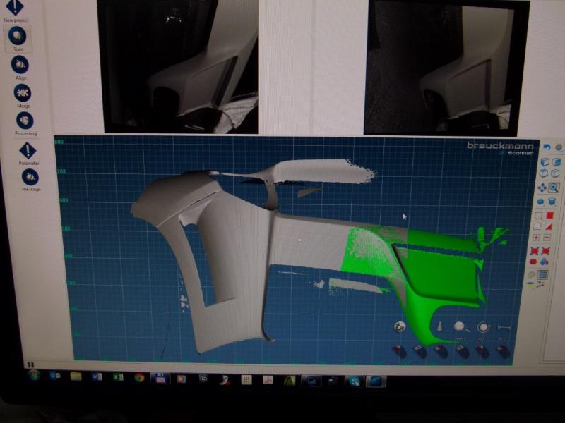 vereseny autó 3D szkennelés